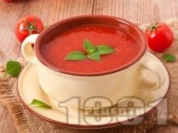 Лесна и бърза студена доматена крем супа в блендер - снимка на рецептата